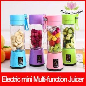 6 lame Travel Cup USB Portatile Spremiagrumi elettrico Blender Bottiglia di spremiagrumi ricaricabile Frutta Verdura Utensili da cucina 380 ml mini multi-funzione