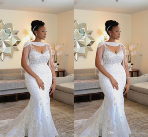 African Luxurious Wedding Dress With Wrap Beading Crystal Woman Dress Ballgown Small Tail Bridal Wedding Dress Customized Ladies Dresses