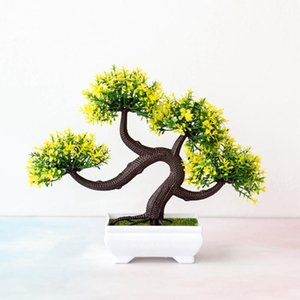 Artificial Office Home Decor Gift Plant Bonsai Potted Mini Simulation Pine Tree Potted Ornaments For Home Decoration Hotel