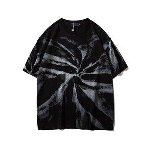 Черный Paisley Tie Dye Hip Hop Tshirt Мужчины Женщины 2020 Лето Streetwear Мужские футболки хлопок футболки для мужчин