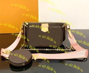 مصمم حقائب الكتف الأعلى جودة الثلاثي CROSSBODY حقيبة مصمم محفظة محفظة حقيبة يد ثلاثة من قطعة ومجموعة كيس تأتي مع صندوق