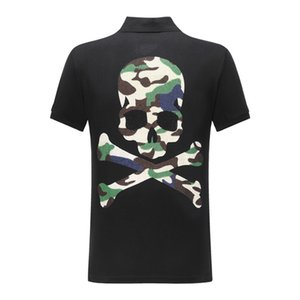DUYOU new short sleeve polo shirt men brand clothing Camouflage skull casual polos male top quality 100% cotton ACP703084