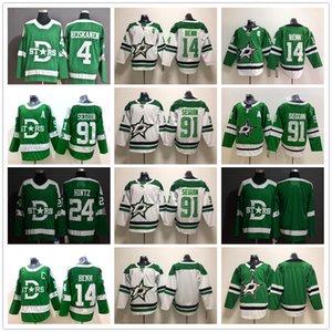 2020 Winter Classic Dallas Stars 24 Roope Hintz Jersey Eishockey 4 Miro Heiskanen 14 Jamie Benn Tyler Seguin 91 Trikots Grün Weiß