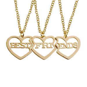Broken Heart Necklace 3pcs a set Jewelry Valentine's Day Gift Best Friends Collares pendientes para siempre Collar