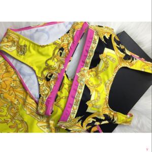 2020 Марка женщин сексуальный купальник лето Плавание бикини Setsfashion Sexy женщин Дизайнер бикини Топы качества Размер S-XL YF20182