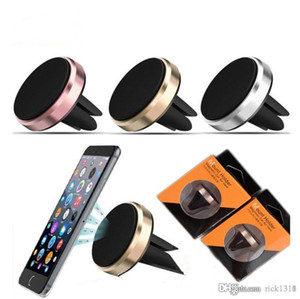Car Mount Air Vent Magnetic Universal Mobile Phone Holder For Samsung Galaxy S7 S6 With Retail Package