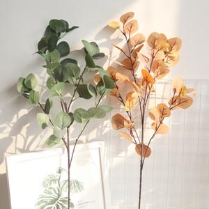 Silk Leaf Eucalyptus Künstliche Grüne Blätter für Hochzeitsdekoration DIY Kranz Geschenk Scrapbooking Handwerk Apple Pflanzen Gefälschte Blume