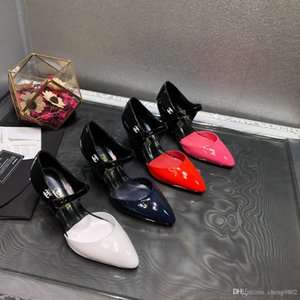 2020 nuova [scatola originale] Lusso Nuova Medusa donne di Slingbacks sandali tacco alto 9CM abito da sposa cinturino alla caviglia Cowskin Formato dei pattini 35-39