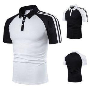 Designer Polos Hommes Mode rayé Patchwork Polos Solide Couleur manches courtes Casual Vêtements Hommes Polos