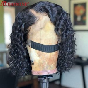 Brazilian Remy Lace Front Human Hair Wigs For Women 13x6 Deep Wave Wig Bleached Knots With Elastic Band