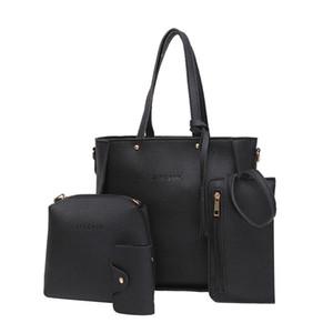 Bolso de cuatro bolsos de las mujeres Bolso de hombro de cuatro piezas Tote Bag 4 Unids / set Bolso de cuero de la pu Cuatro Bolsa Feminina Precio Precio Y19061204