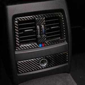 Наклейки Каркасные Carbon Fiber автомобилей Center Console Кондиционер Outlet Vent Декоративная крышка для BMW F30 F34 3GT 3-й серии