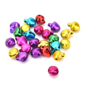 6 8 10mm 100Pcs lot Colorful DIY Crafts Handmade Mix Colors Loose Beads Small Jingle Bells Christmas Decoration Gift Wholesale