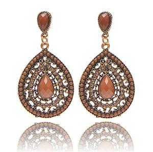 19 stili nuove donne di modo orecchini di Waterdrop di cristallo colorato Boemia orecchini di goccia gioielli etnici Normativa per il partito regalo HZSEH001