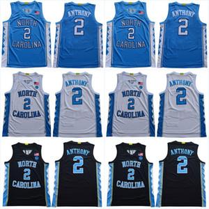 Carolina del Norte # 2 # 15 Cole Anthony Carter # 32 Lucas Maye # 5 Nassir Poco Harrison Barnes 2020 nuevo estilo Jersey cosida UNC Colegio jerseys