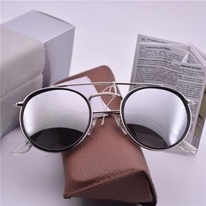 새로운 브랜드 클럽 선글라스 라운드 남자 태양 안경 여성 야외 레트로 클럽 라운드 더블 브리지 선글래스 carfia 가파 드 sol 51mm 케이스 포함