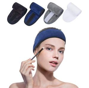 DHL SALÃO Yoga Sports Velcro beleza das senhoras toalha Bandas Face Wash Maquiagem Máscara Pacotes cabelo envolvido Bandas Cabelo Headbands Grossistas venda quente