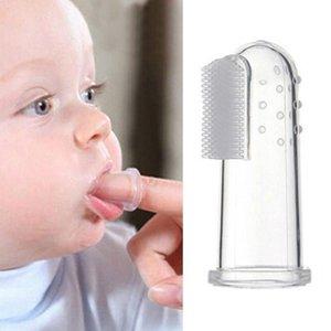 Kids Baby Infant Soft Silicone Finger Toothbrush Teeth Massager Gum Brush