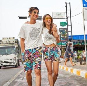 Drying Seaside Holiday Pant Man Knee Length Shorts Swimwear Couple 3D Printing Beach Pants Mens Womens Loose Quck
