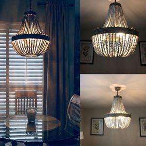 Retro loft vintage rústico cuentas de madera colgante lámpara E27 led lámpara colgante luces de la decoración moderna para sala de estar cocina del hotel