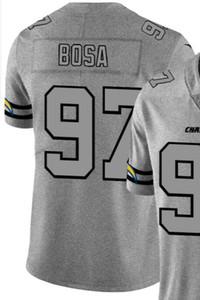 2020 Man San Diego 97 Jersey T-shirt brodé et 100% chanvre piquées Ash Throwback Limited Jersey Jersey Football américain