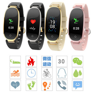 S3 Color Screen Smart Wristbands Women Watch Fitness Waterproof Bracelet Heart Rate Monitor Gift to Lady watches smart for IOS Android Phone