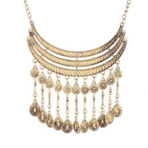 Moda 2019 maxi marca boho marca de energia colar gargantilha colar vintage declaração étnica cigana colar de mulheres jóias