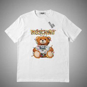 Moschino Summer Lovers manches courtes T-shirts Marque de mode Streetwear T-shirts Lettre Hommes Femmes Vêtements Hauts Imprimer T-shirts S-2XL
