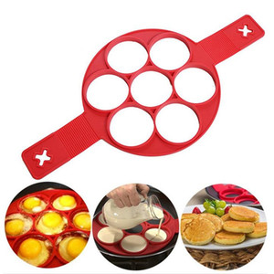 Silicone Pancake Maker Non-stick Cooking Tools Egg Ring Maker Pancakes Cheese Eggs Mold Kitchen Baking Accessories 7-Hole