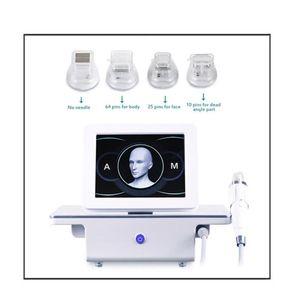 تصميم جديد 4 نصائح كسور rf microneedle الوجه الرعاية الذهب الجلد حب الشباب ندبة تمتد علامة إزالة العلاج آلة الجمال