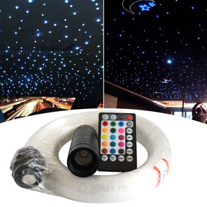RGB Fiber Starlight Headliner Kit 300 400 Strands Voice Control 6W LED Glasfaser-Licht-Kit für Auto