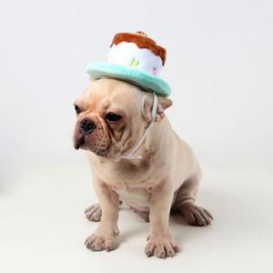 Cute Pets Dog Gatti Compleanno Cappellini Corduroy regolabile colorato Candele Small / Medium cappello cane Puppy Gatti costume cosplay Headwear 1