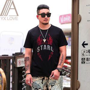 2020 New Fashion Print Short T-shirts Men T Shirts Funny Casual Tshirt Men Hip Hop Cotton Spandex Streetwear Homme Tees XL-6XL