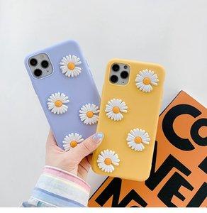 Sevimli 3D Kasımpatı Çiçek Telefon Kılıfı Kapak iPhone 11 Pro 6S Artı 6 7 8 X XR XS MAX Yumuşak Case Arka iPhone SE 2020 Vaka
