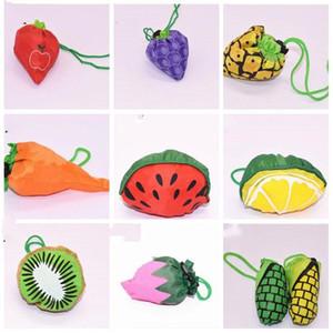 Nylon Fruit Grocery armazenamento bolsa dobrável Supermercado Sacos grande capacidade de Morango, Maçã, Uva Forma Sacos LXL1034-1