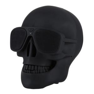 Hot Skull lecteur sans fil Bluetooth Haut-parleur mobile Sunglass Caisson de graves Haut-parleurs Multipurpose cool pour téléphone intelligent Android