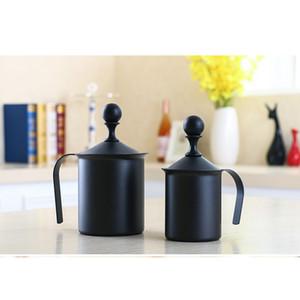Lait de poche en acier inoxydable Frothing café Frothing, facile à Frother propre lait pour café Capacité 400ML et 800ML