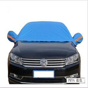 Universal Half Car Covers Pare-soleil Styling Thicken étanche Protection Shield Anti-UV Car Covers Hiver Protection neige