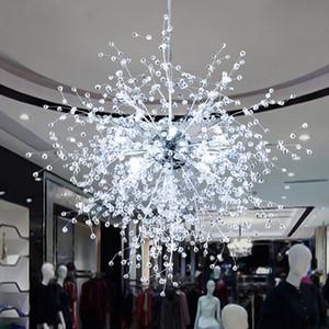 Dandelion Chandeliers Lighting for Dining Room Bedroom Exhibition hall Living Room LED White Light Pendant Hanging Lamp