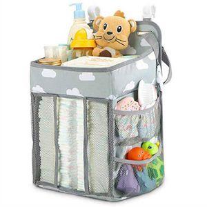 Passeggiatori del bambino Borse pannolino del pannolino Personale Organizer Portable Ciuccio Snack tasca mamma esterna Deposito Bag carrello Infant Crib Hang Borse D6485