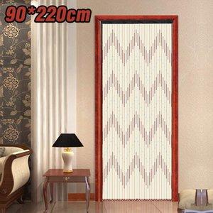 90x220cm عالية الجودة باب خشبي باب الستار الستائر اليدوية يطير شاشة خشبي الخرز غرفة المقسم 31 خط غير سامة لا