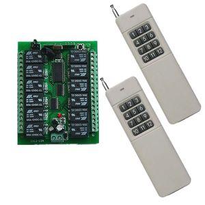 DC 12V 24V 10A 12 CH 12CH RF беспроводной пульт дистанционного управления Переключатель системы передатчик + приемник / лампа / двери гаража / жалюзи