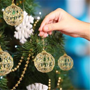 Glitter 5 / 6cm Noel ağacı Hollow Out Toplar Noel ağacı Altın Top Süsleri Noel Süsler Parti Düğün Ev Dekorasyonu