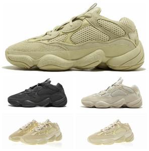 Adidas 2019 Nova Sal 500 Kanye West Running Shoes Super Lua amarela Blush Desert Rat 500 homens do esporte de luxo designer Sneakers mulheres calçados casuais