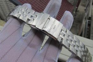 BRACELET DE BRACELET EN ACIER INOXYDABLE 18MM 22MM 24MM 316L, EN ACIER INOXYDABLE, utilisé pour les accessoires de fermeture de montre