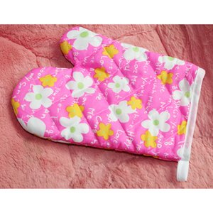 1PC S SIZE Baking Cotton Oven Glove Microwave Oven Cooking Mitts Heat Resistan Glove Kitchen Tools Color Random