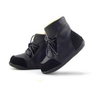 Bottes de neige pour femmes, antidérapantes, en cuir véritable Bottes pour enfants Chaussures à talons rembourrés en coton pour hommes