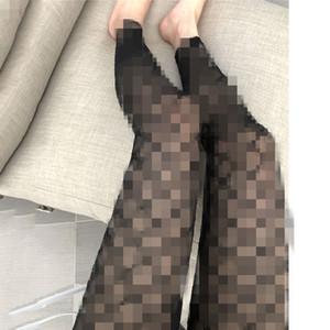 Sexy letra g bordados de tul de las polainas más nuevas caliente invisible fina malla medias para mujer de alta calidad casa Ropa Pantalones negros