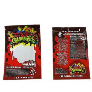 Packagingbag 011 Dank nrQkg itibaren Toptan Worms 500mg Edibles Ayılar Küpler Sakızlı Bags Ambalaj 2020 Dank gummies Çanta Edibles Çanta