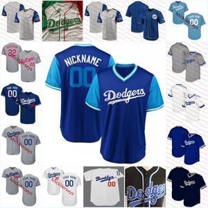 Personalizado Los Angeles Jersey # 99 Manny Ramirez # 32 Sandy Koufax # 34 Fernando Valenzuela # 23 Kirk Gibson # 42 Jackie Robinson LA Jersey S-3XL